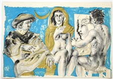 Hans Erni original lithograph for Dames des Decans
