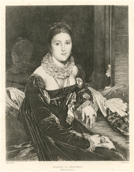 Jean-Auguste-Dominique Ingres etching Madamme de Senonnes