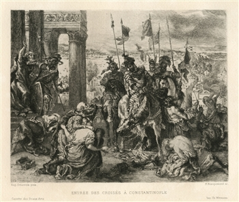 Eugene Delacroix etching Constantinople
