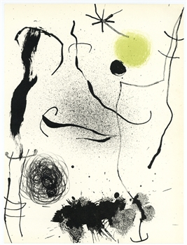 "Joan Miro ""Bouquet de reves pour Leila"" original lithograph"