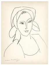 Henri Matisse lithograph Catherinette