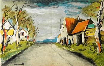 "Maurice de Vlaminck ""The Road"" original lithograph"