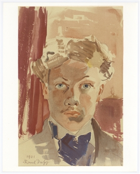 Raoul Dufy lithograph Self Portrait