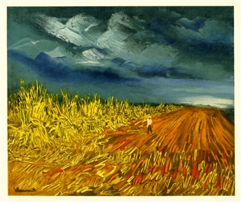 Maurice de Vlaminck lithograph The Harvest