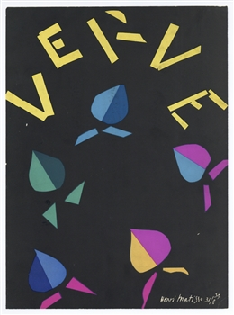 Henri Matisse lithograph for Verve, 1940
