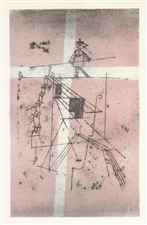 Paul Klee pochoir Tightrope Walker