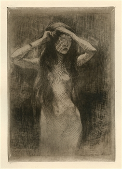 Albert Besnard original etching