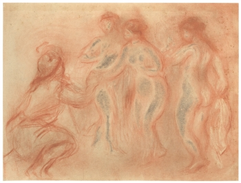 Pierre-Auguste Renoir pochoir The Judgement of Paris