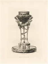 Jules Jacquemart original etching Tripod by Gouthiere