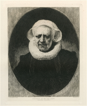 Rembrandt van Rijn (after) Portrait of an Old Lady