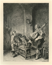 Jean-Louis Meissonier etching