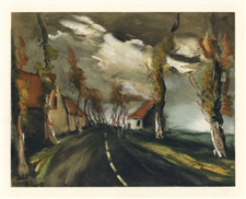 Maurice de Vlaminck The Mortagne Road lithograph