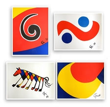 Alexander Calder original lithographs Flying Colors Collection