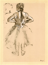 Edgar Degas monotype Danseuse