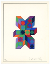 Victor Vasarely signed original serigraph