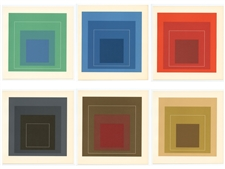 Josef Albers lithograph, White Line Squares | Homage to the Square