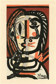 Pablo Picasso woodcut