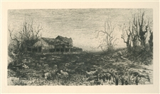 "Stephen Parrish ""November"" original etching"