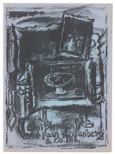 Max Weber lithograph Improvisations