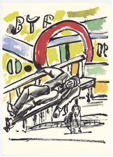 Fernand Leger lithograph Mes Voyages