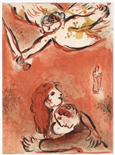 "Marc Chagall ""The Face of Israel"" Bible lithograph 