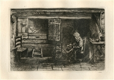 Jozef Israels Old Couple original etching