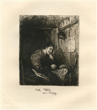 William Unger Van Ostade etching