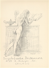 Reginald Marsh lithograph for Improvisations Artists Equity Spring Fantasia