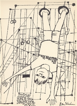 Ben Shahn lithograph Improvisations
