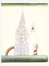 Saul Steinberg lithograph New York