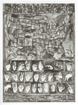 Jasper Johns lithograph Art in America