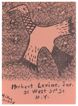 Milton Avery lithograph for Improvisations | Artists Equity Ball