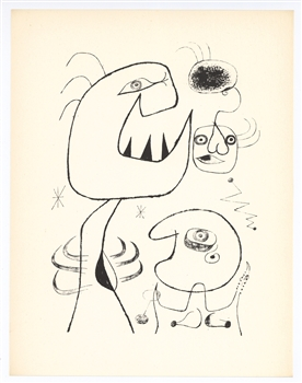 Joan Miro surrealist lithograph