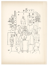George Grosz lithograph Hindenburg