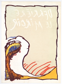 Pierre Alechinsky original lithograph, 1981