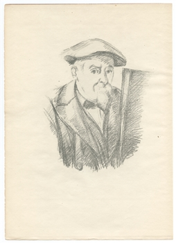 "Paul Cezanne ""Self Portrait"" lithograph"