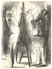 "Pablo Picasso ""The Artist and his Model II"" original lithograph"