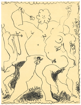 "Pablo Picasso ""Satyr, Nymph and Bacchus"" original lithograph"