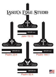 Laser Engraved Religious design Charging Handles