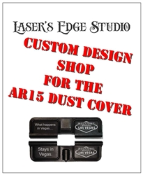 AR-15 custom lasered Ejection Port Dust Cover