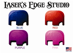 Engraved Red, Blue, Pink, Purple Back slide plate for Glock