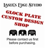 Engraved Glock Back Plate - Custom Logo