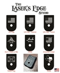 Engraved Glock 43 Magazine Plate - Flags 01