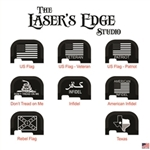 Engraved Ruger LC9s Back Plate Flag Patterns
