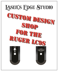 Ruger LC9s Engraved extended Magazine Plate - Custom