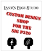 Sig P320 Black Aluminium Slide Plate personalized custom pattern