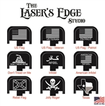 Engraved S&W M&P Back Plate Flag Patterns