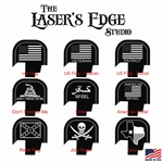 Engraved S&W Shield Back Plate  Flag Patterns