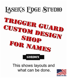 Engraved Threaded Tactical Trigger Guard - Custom Name