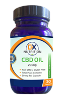 GX Nutrition 20mg CBD Oil Capsules (30 Capsules) - NEW!
